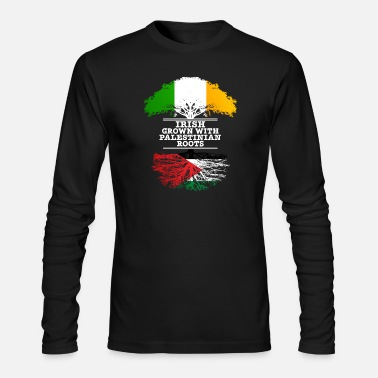 Palestinian Irish Grown With Palestinian Roots - Men's Long Sleeve T-Shirt by Next Level
