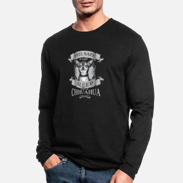 Chihuahua Chihuahua T-shirt - Feel save at night - Men's Longsleeve Shirt