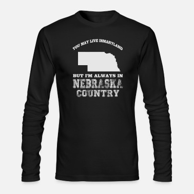 Football Nebraska - Nebraska Country - Men's Long Sleeve T-Shirt by Next Level