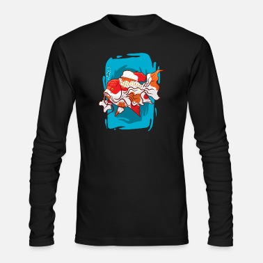 Fishing For Kids Cute colorful koi Fish for kids sea life oceanic - Men's Longsleeve Shirt