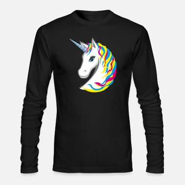 Bright Colors Unicorn colorful bright neon - Men's Long Sleeve T-Shirt by Next Level