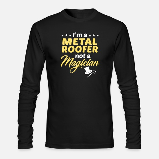 Metal Roofer Apparel Long-Sleeve Shirts - Metal Roofer - Men's Longsleeve Shirt black