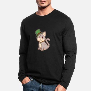 St patricks day cat catlover irish - Men's Longsleeve Shirt