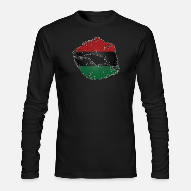 Red Black And Green Red, black, green lips - Men's Longsleeve Shirt