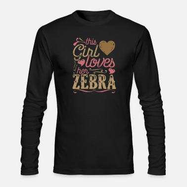 Zebra Shirt Gift - Men's Longsleeve Shirt