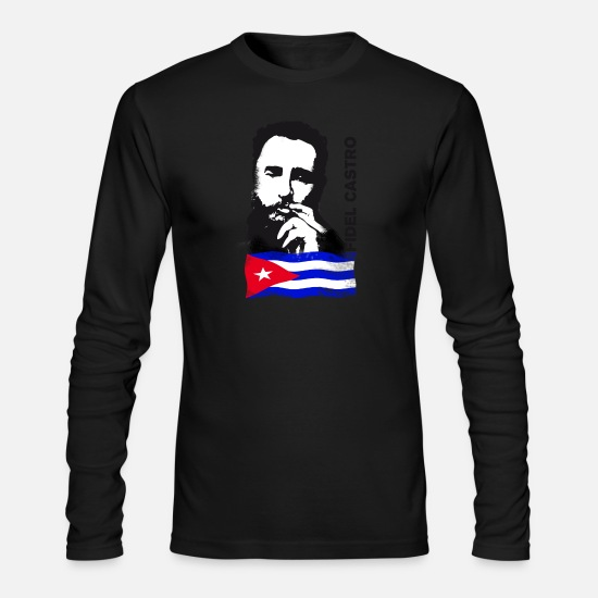 Cuba Long sleeve shirts - fidel castro cuba demo revolution cigar memoriam - Men's Longsleeve Shirt black
