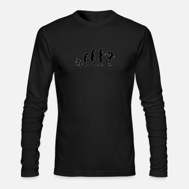 Ice Skate ice skating evolution, #ice skating - Men's Longsleeve Shirt