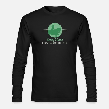 Horse Riding Horse Riding Horseriding Horses Sports Girls Gift - Men's Long Sleeve T-Shirt by Next Level