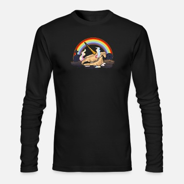 Unicorn Skeleton - Men's Long Sleeve T-Shirt by Next Level