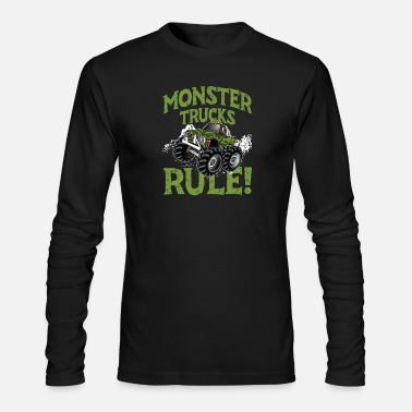 Truck Monster Trucks Rule! big tired huge engine - Men's Longsleeve Shirt