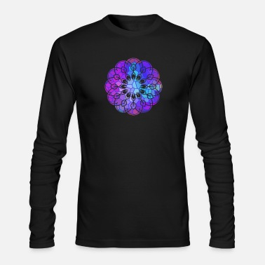 Bright Stained Glass Graphic with Bright Rainbow of Color - Men's Longsleeve Shirt