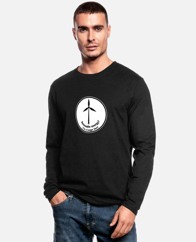 Fridays For Future Long-Sleeved Shirts - Renewable Energy Wind Energy - Men's Longsleeve Shirt black