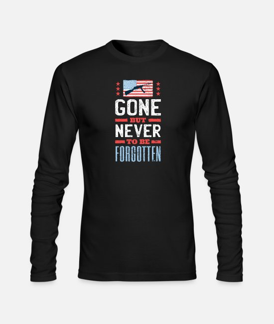 Gun Long-Sleeved Shirts - Gone But Never To Be Forgotten - Men's Longsleeve Shirt black