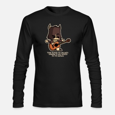 Hungry Funny Guitarist Cat - Men's Longsleeve Shirt