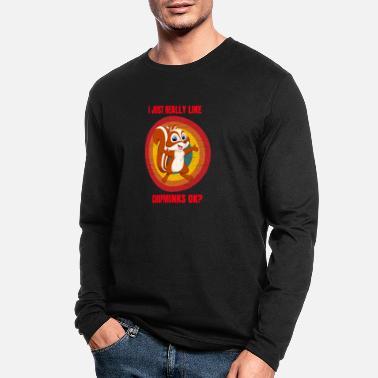 Squirrel squirrels for people who likesquirrels, chipmunks - Men's Longsleeve Shirt