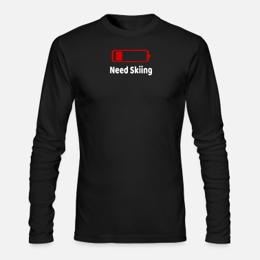 Battery Low Battery Need Skiing TShirt Activities Hobbies Gift - Men's Longsleeve Shirt
