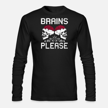 Zombie Halloween Skull Zombies - Men's Long Sleeve T-Shirt by Next Level