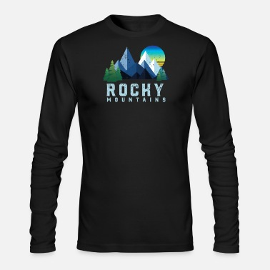 Rocky Mountains Vintage Rocky Mountains Retro National Park - Men's Longsleeve Shirt