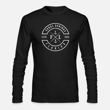 Spring Coral Springs - Coral Springs Florida Emblem - Men's Long Sleeve T-Shirt by Next Level