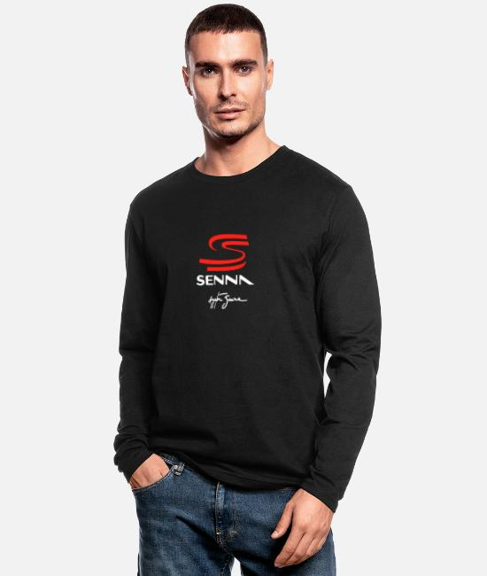 Ball Long-Sleeved Shirts - ayrton senna 1 - Men's Longsleeve Shirt black