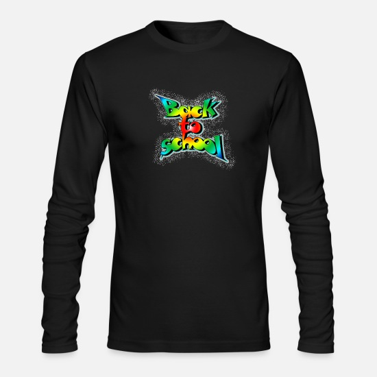 Old School Rap Long-Sleeve Shirts - Back to school - Men's Longsleeve Shirt black