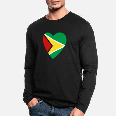 Guyana Guyana Flag Heart - Men's Longsleeve Shirt
