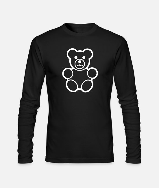 Movie Long-Sleeved Shirts - TEDDY BEAR - Men's Longsleeve Shirt black