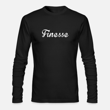 Mane Finess white supreme logo - Men's Long Sleeve T-Shirt by Next Level