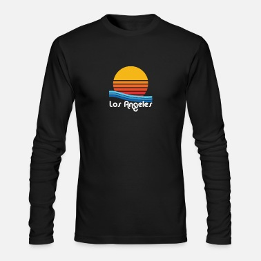 Los Angeles Throwback Eighties Los Angeles Surf Graphic - Men's Long Sleeve T-Shirt by Next Level