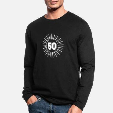 Round Birthday 50 Years Birthday Round Rays - Men's Longsleeve Shirt