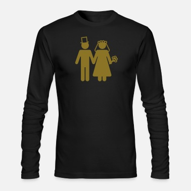 Groom Bride and Groom - Add Your Own Text - Men's Longsleeve Shirt