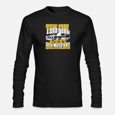 Ford Mustang lover - This girl rocks her mustang - Men's Long Sleeve T-Shirt by Next Level