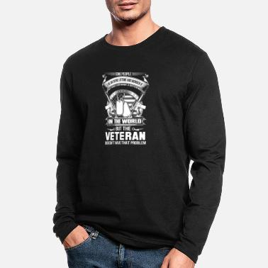 Veterans Against Police Abuse Veteran patriotic veteran navy veteran iraq vete - Men's Longsleeve Shirt