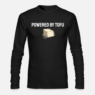 Powered by Tofu Vegan Vegetarian Veggie Food Gift - Men's Longsleeve Shirt