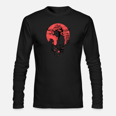 Art red nude japanese geisha - Men's Long Sleeve T-Shirt by Next Level