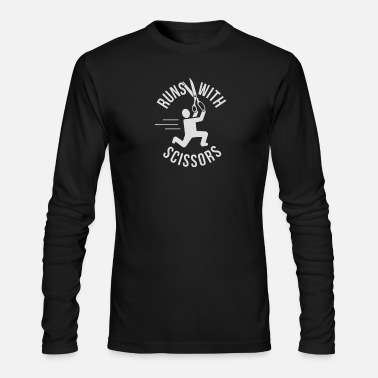 Running Runs With Scissors - Men's Long Sleeve T-Shirt by Next Level