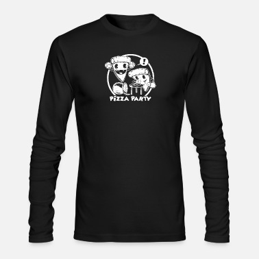 the pizza party funny - Men's Longsleeve Shirt