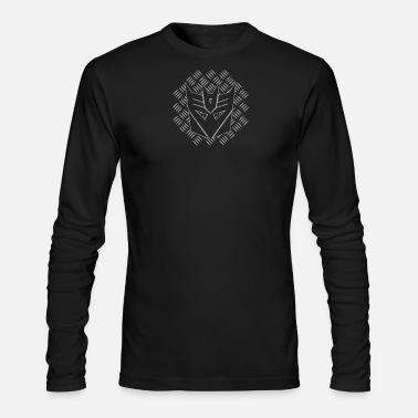 Metal Robot Transformers Decepticon Metal METALLIC - Men's Long Sleeve T-Shirt by Next Level