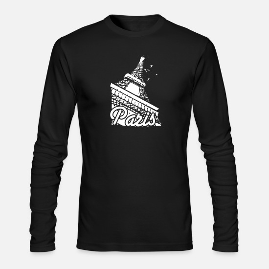 Tower Long-Sleeve Shirts - Paris France Eiffel Tower - Men's Longsleeve Shirt black