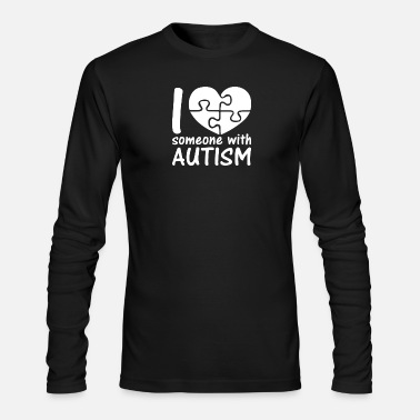 I Love Someone With Autism - Men's Longsleeve Shirt