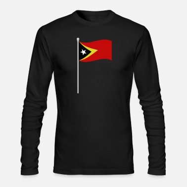 Timo flag of east timor - Men's Long Sleeve T-Shirt by Next Level