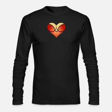 Cleavage Heart-shaped Woman's Breasts With Deep Cleavage - Men's Long Sleeve T-Shirt by Next Level