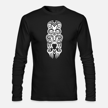 Tatoo maori face tattoo t-shirt poloshirt bright - Men's Longsleeve Shirt