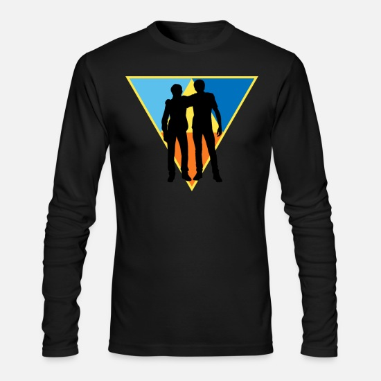 Career Long-Sleeve Shirts - Hipster Buddy - Men's Longsleeve Shirt black
