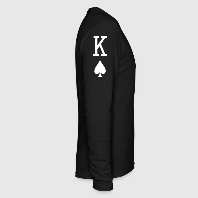 Kings of Spades - King Card - Men's Long Sleeve T-Shirt by Next Level