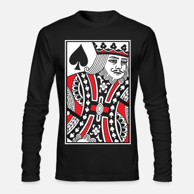 King Kings of Spades - King Card - Men's Long Sleeve T-Shirt by Next Level
