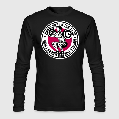 weight lifting - Men's Long Sleeve T-Shirt by Next Level