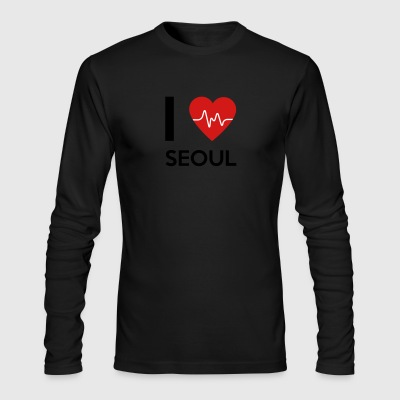I Love Seoul - Men's Long Sleeve T-Shirt by Next Level