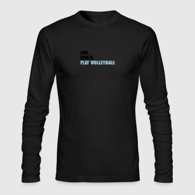 volleyball - Men's Long Sleeve T-Shirt by Next Level