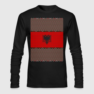 Albanian Ugly Christmas Sweater - Men's Long Sleeve T-Shirt by Next Level
